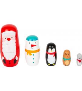 Matrioška vianočné postavičky