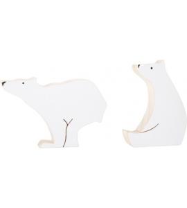Polárne medvede - drevená dekorácia