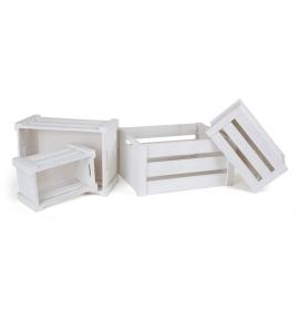 Drevený box - Biely