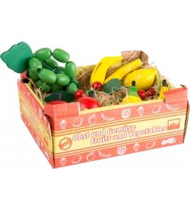 Drevená krabica s ovocím