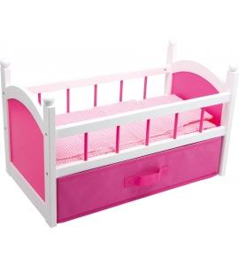 Posteľ pre bábiky - ružová