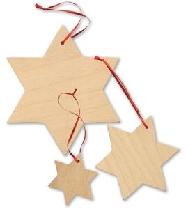 Dekorácia - Drevené hviezdy