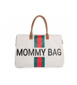CHILDHOME PREBAĽOVACIA TAŠKA MOMMY BAG BIG OFF WHITE / GREEN RED
