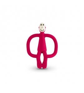 Hryzátko a zubná kefka Matchstick Monkey Rubínová