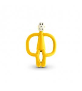 Hryzátko a zubná kefka Matchstick Monkey Žltá